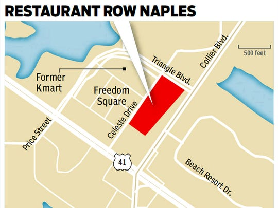 Restaurant Row Naples is a 7-acre development with at least eight new restaurants planned for the corner of U.S. 41 East and Collier Boulevard.
