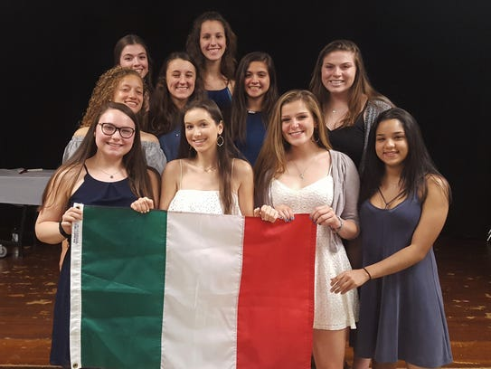 Eleven Westfield High School students were inducted