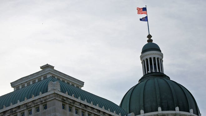 The Indiana Statehouse,