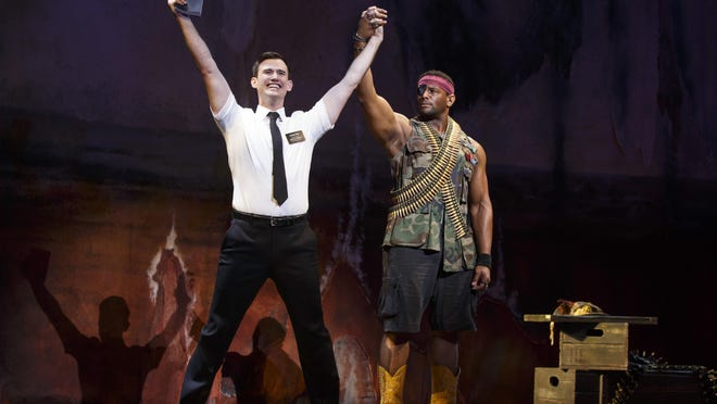 "Ryan Bondy stars as Elder Price in ""Book of Mormon,"" which comes to Fresno next October."