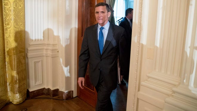 Michael Flynn at the White House on Jan. 22, 2017.