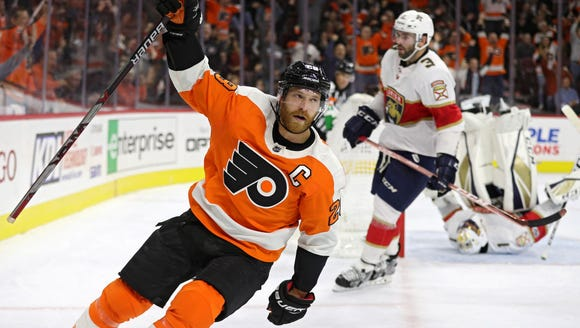 Claude Giroux has six points in his last two games.
