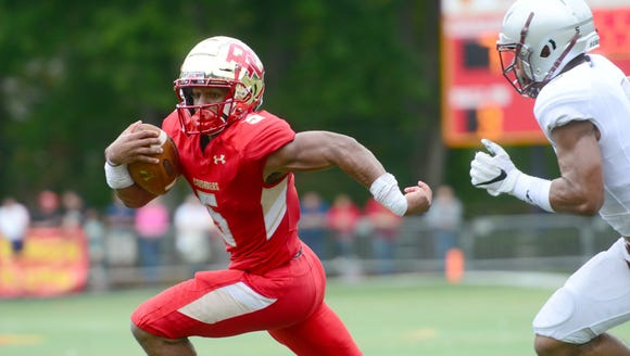 Bergen Catholic running back Josh McKenzie has rushed