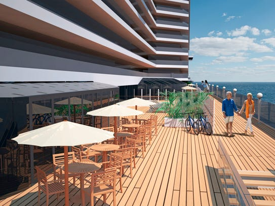 An open-air promenade will be a significant feature
