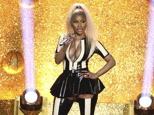 Nicki Minaj performs at the MTV Video Music Awards Sunday night.