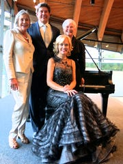 Alice Walton, (clockwise from standing left ) Tommy Smith, former Shreveporter Sandy Edwards and pianist Olga Kern at inaugural concert.
