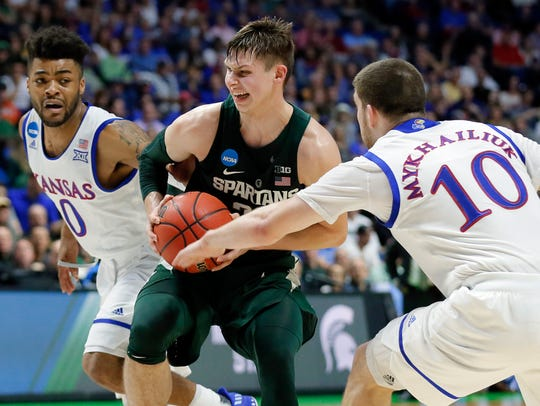Matt McQuaid found success offensively late last season, both with his outside shot and driving to the basket.