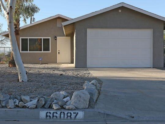 The unoccupied former home of John David Yoder in Desert Hot Springs, pictured September 16, 2015.