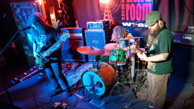 The band Waft performs at Radio Room, one of Greenville's live music venues.