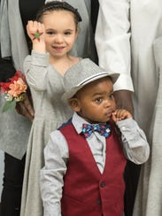 Samantha (left) and Jaylen Mitcham-Smith were adopted