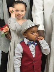 Samantha (left) and Jaylen Mitcham-Smith were adopted