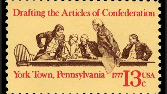 The Articles of Confederation were adopted in York in 1777.