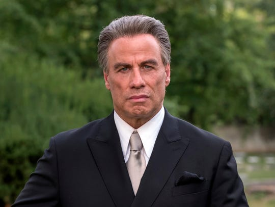 "Travolta plays John Gotti in the mobster biopic ""Gotti"""