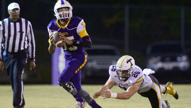 North Henderson's Kalin Ensley has become the second Western North Carolina sophomore to pass for 1,000 yards this fall.