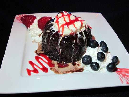 Chocolate molten lava cake at Naples Coastal Kitchen