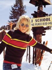 Greg LeMond skiing at Lake Tahoe in 1973.