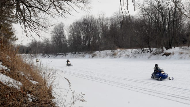 Many Black River snowmobilers take advantage of the new park developments at Bakers Field, launching their machines from the Port Huron Township park at the end of Strawberry Lane.
