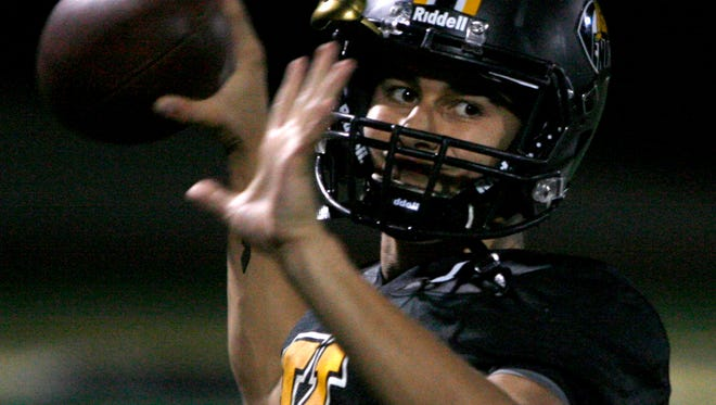 Quarterback Jack Gutierrez has started all 10 games for Ventura High, but he will move to safety Friday night when injured first-string quarterback Kyle Gerardi returns. Ventura hosts Moorpark in the first round of the Division 5 playoffs.
