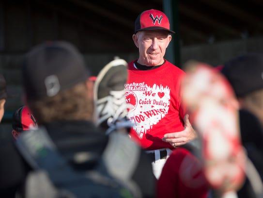 Wapahani Coach Brian Dudley celebrates his 700th win