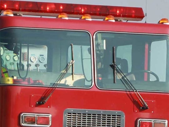 The Lebanon fire and police departments were dispatched to the old sheriff's office in the city after two men working on the roof suffered electrical shock injuries.