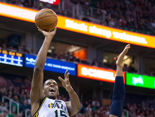 Utah Jazz forward Derrick Favors