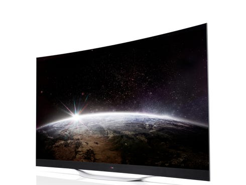 LG Electronics' 77-inch Ultra HD Curved OLED TV will display Ultra Cinema 3D.