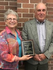 Dave and Sandy Marcy of Waupaca were presented with