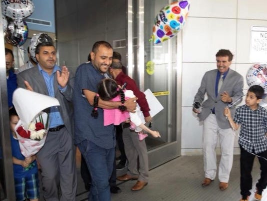 Yemeni girl with cerebral palsy lands in U.S. for help despite Trump travel ban