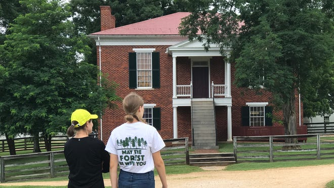 Walkers at Appomattox reflect on America's reunification and roots.