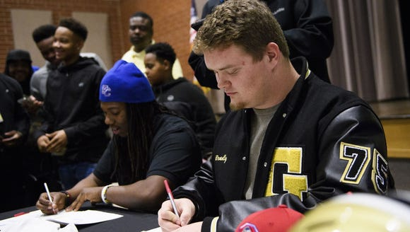 Greer High seniors Travigea Ware, left, and Bradly