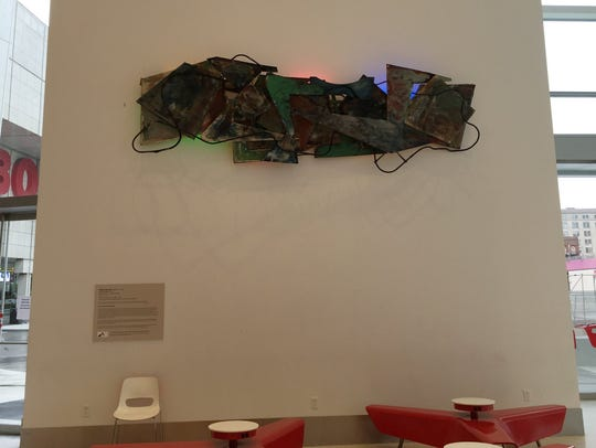 "Robert Sestok's ""Rock and Roll"" (1978-79), made of"