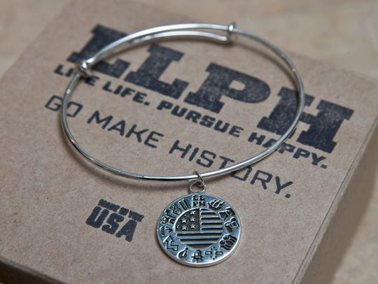 One of the American history-themed pieces of jewelry