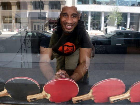 Diablo Smith, 41, owner of Drive Table Tennis Social