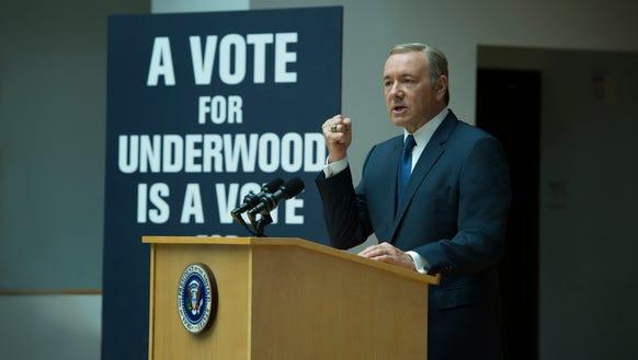 Kevin Spacey as Frank Underwood