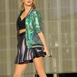 Taylor Swift performs on stage at the British Summertime gigs at Hyde Park on June 27, 2015 in London, England.  (Dave Hogan/Getty Images).