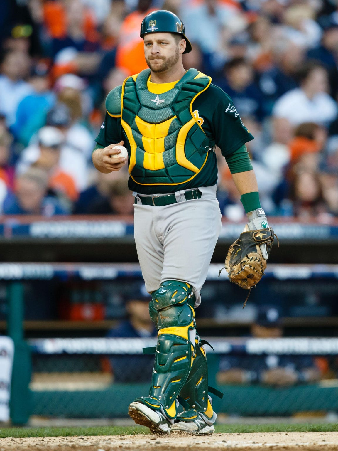 Oakland Athletics catcher Stephen Vogt is a Central