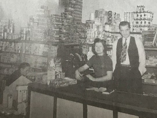 Reece Yon, right, and his wife, Billie, ran Yon's Grocery in Anderson starting in the 1940s.