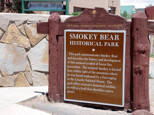 This historical marker notes Smokey Bear Historical Park, commemorating Capitan's favorite son. The visitor's center at the park offers inside exhibits that tell about the famous cub and fire prevention.