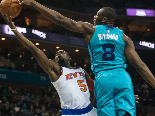 NBA: New York Knicks at Charlotte Hornets