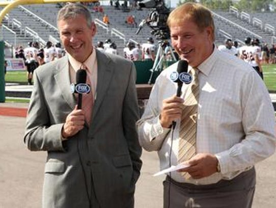 Dave Lapham (right) and Brad Johansen did Bengals games
