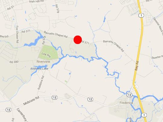 Fatal accident Friday night happened in the 3400 block of Barratt's Chapel Road, near Frederica.