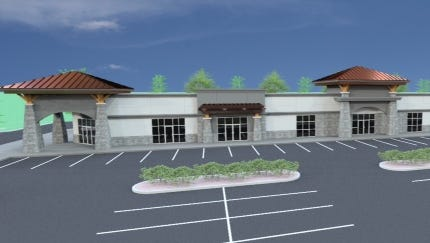 A rendering of the Market at Canyon Creek.