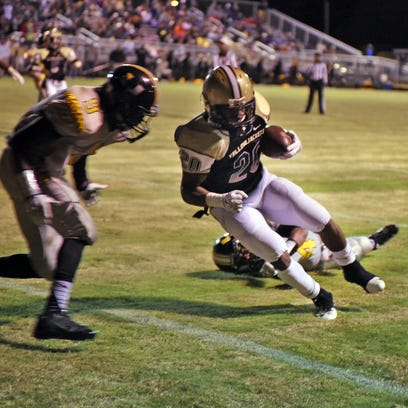 Bassfield's  Rashaud Green scores a touchdown in a