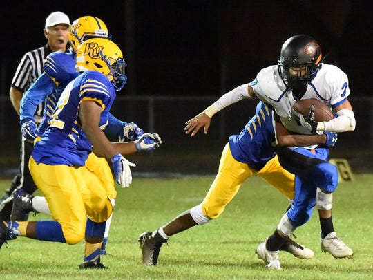 Emad Rehman was a running and throwing threat Friday night.