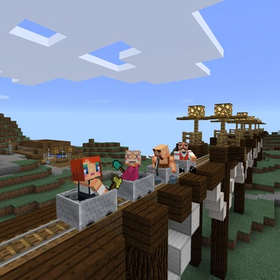 A scene from Minecraft: Windows 10 Edition.