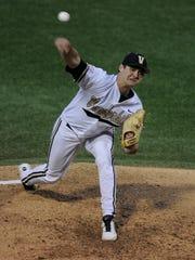 Vanderbilt starting pitcher Tyler Beede