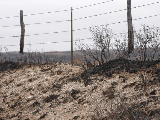 Wildfire can leave posts damaged and in need of replacement,