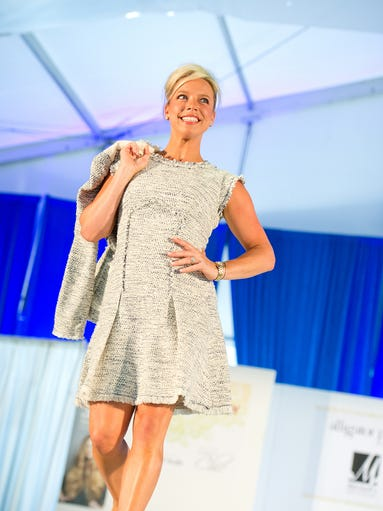A model at the annual Night on the Runway fashion show presented by the Western & Southern Open and Cincy Chic.