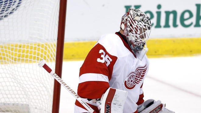Detroit Red Wings goalie Jimmy Howard.
