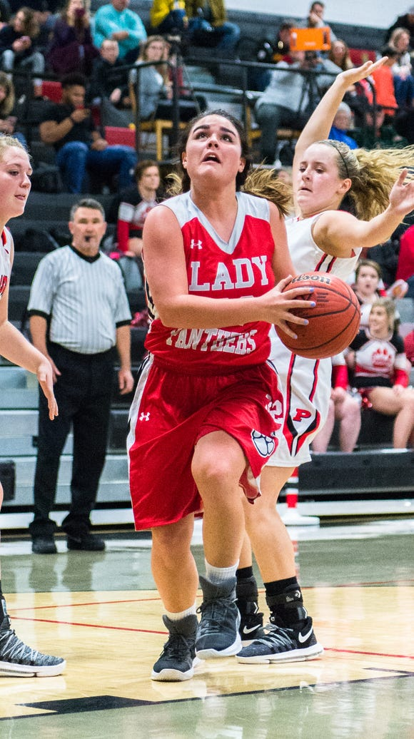 Franklin's Ashlyn Watts looks to make a shot during